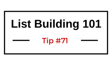 List Building 101 Tip #71 — Include Opt-In Forms with Shipments