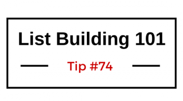 List Building 101 Tip #74 — Send Postcards