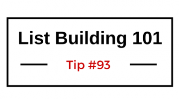 List Building 101 Tip #93 — Run Contests to Excite Your List Members