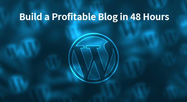 Build a profitable blog in 48 hours