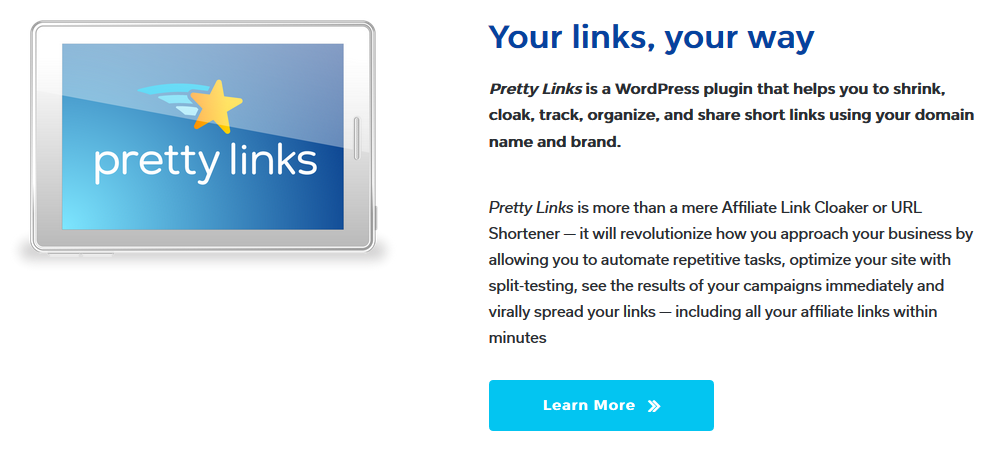 Use Pretty Links Pro for all of your link shortening needs.