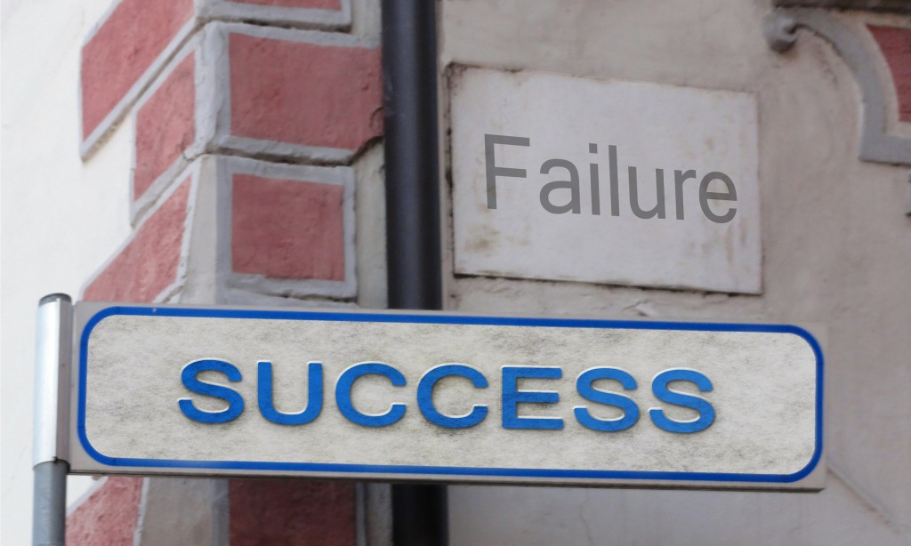 The road to success is paved by failure