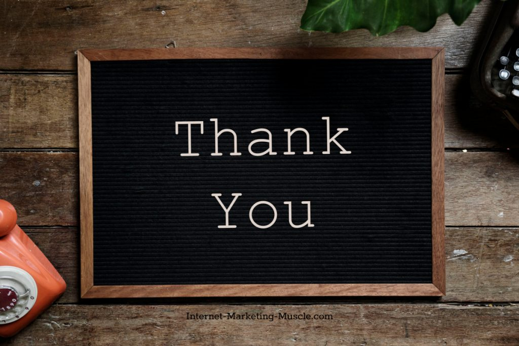 Your Thank You page